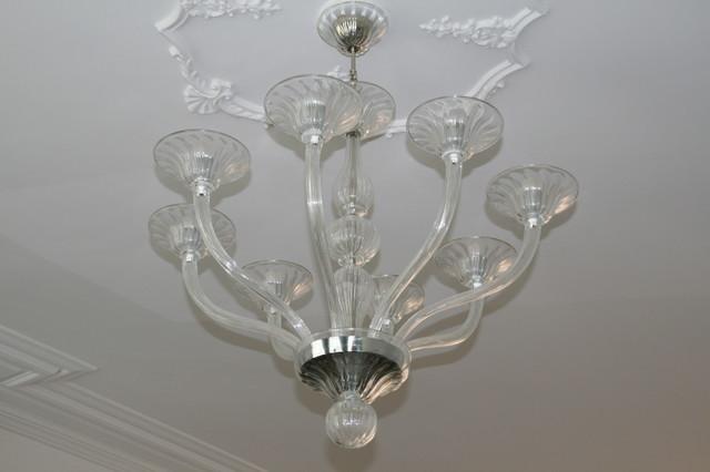 Murano glass chandelier in crystal glass modern-chandeliers