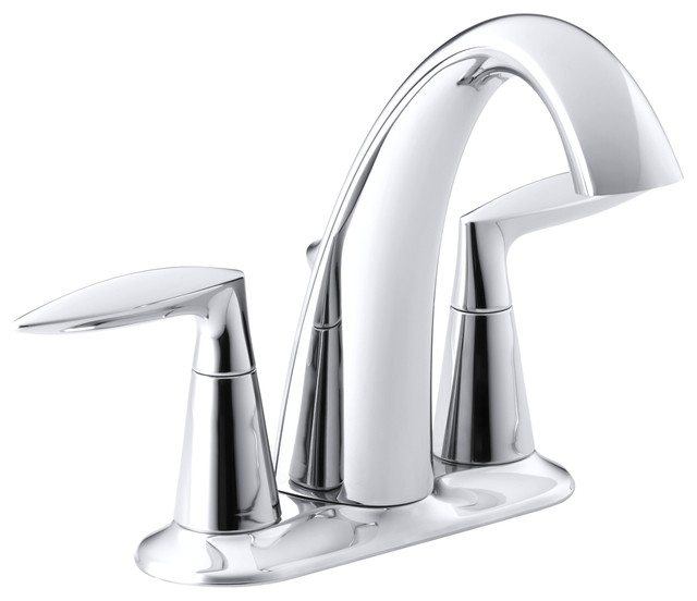 Kohler Alteo Centerset Lavatory Faucet Contemporary Bathroom Faucets And