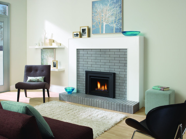 Gas Fireplaces contemporary-indoor-fireplaces