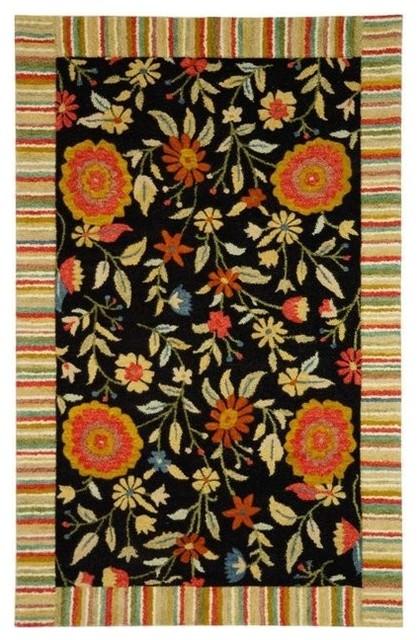 Safavieh Jardin JAR211B Black Area Rug asian-carpet-tiles