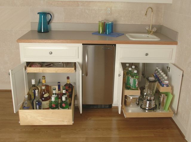 Pull Out Shelves for Your Wet Bar or Liquor Cabinet ...