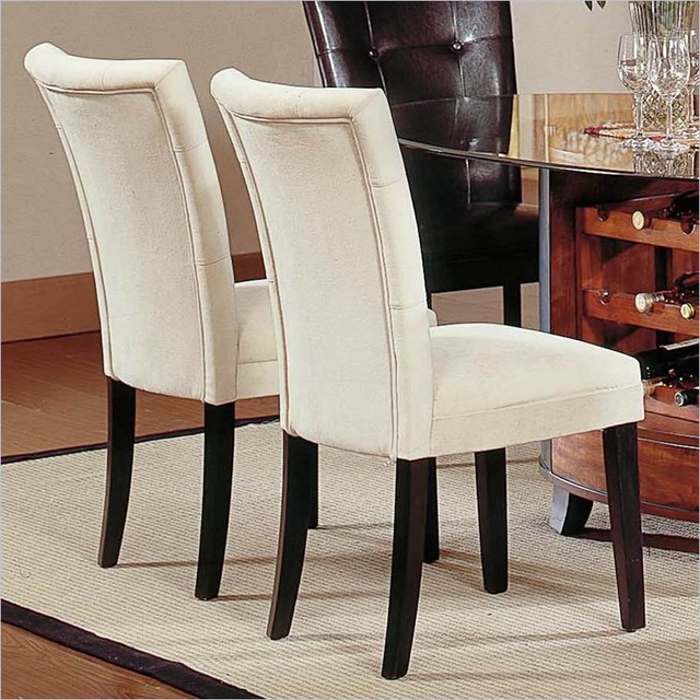 matinee fabric dining parson chair in beige contemporary dining chairs