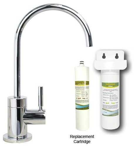 Westbrass Polished Chrome Cold Water Dispenser With Under