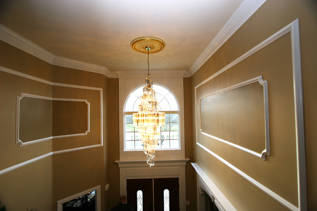 Wainscot and Picture Frames traditional-entry