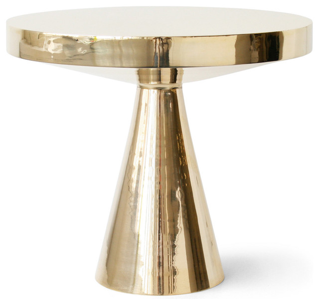 gold pedestal table eclectic side tables and end