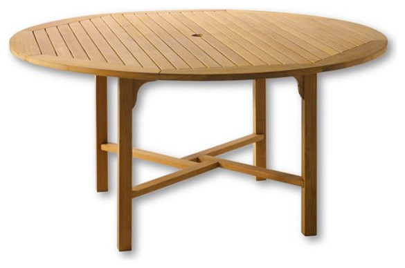 "Teak Classic 60"" Round Table traditional-outdoor-dining-tables"