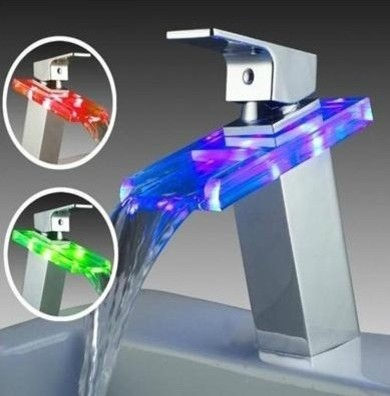 Led Faucet contemporary-bathroom-faucets-and-showerheads