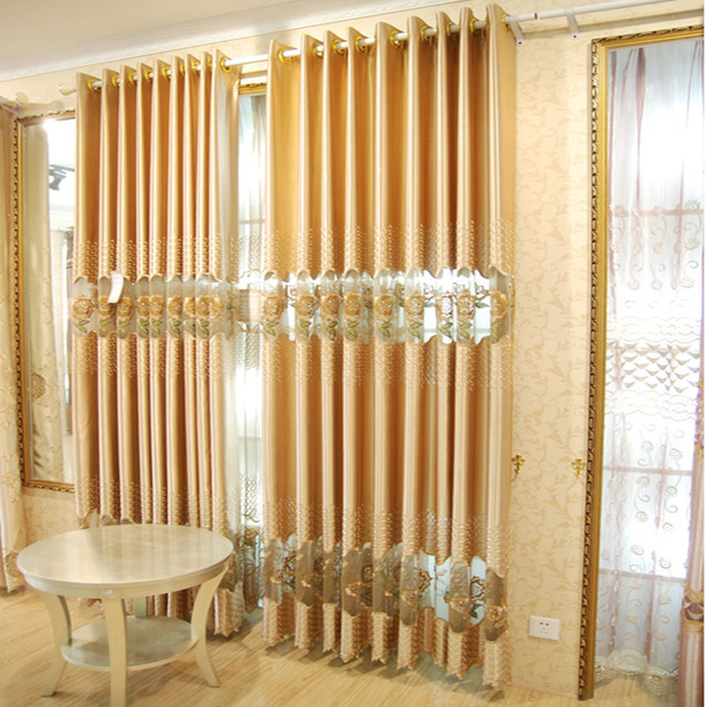 Customized Curtains in Yellow Color eclectic-curtains