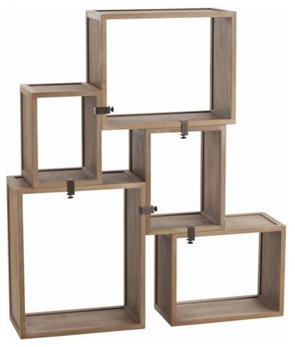 Arteriors Home Stockard Oak Modular Shelves Arteriors