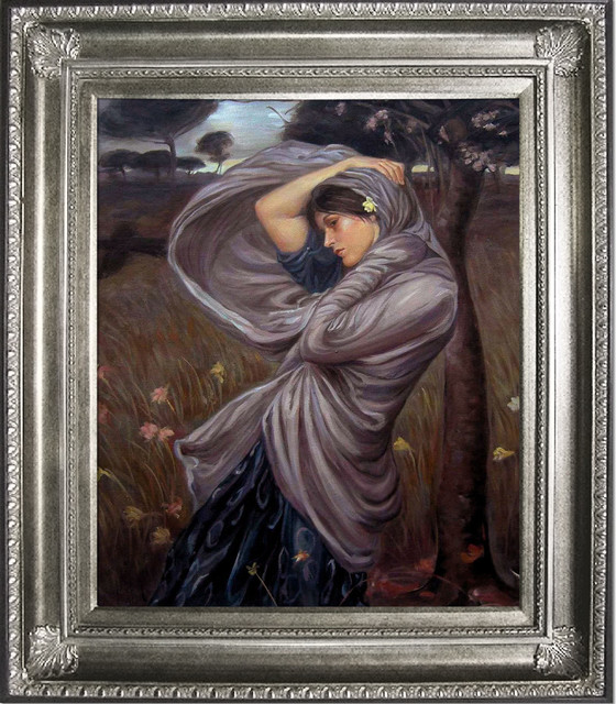 Waterhouse - Boreas Oil Painting modern-prints-and-posters