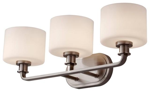 Murray Feiss Kincaid Vanity Light - 23.88W in. Brushed Steel modern-bathroom-vanity-lighting