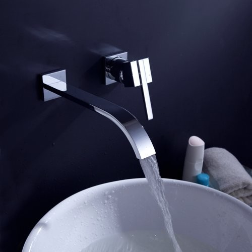 Widespread Bathroom Vessel Sink Faucet contemporary-bathroom-faucets-and-showerheads