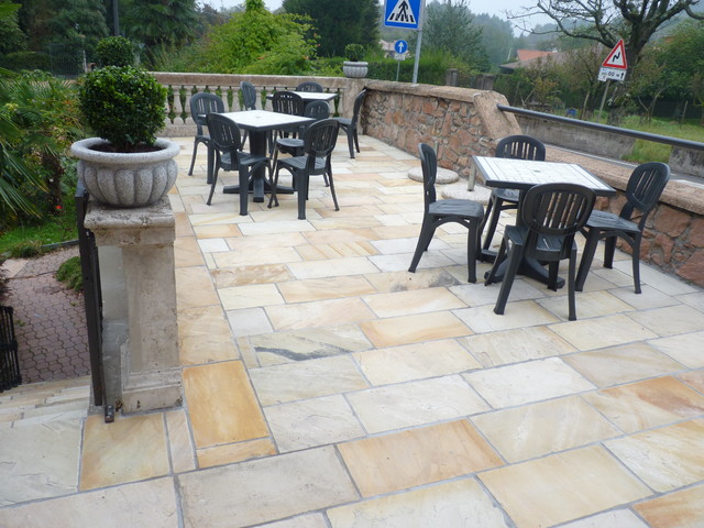 Mint Natural Sandstone Outdoor Flooring Asian By
