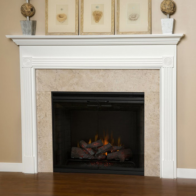 Blue Ridge Wood Fireplace Mantel Transitional Fireplace Accessories Other Metro By