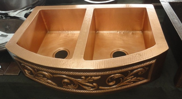 ... Front SoLuna Copper Farmhouse Kitchen Sink farmhouse-kitchen-sinks