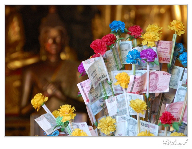 """""""Offering to Buddha"""" Photography by Lisa Linard contemporary-artwork"""