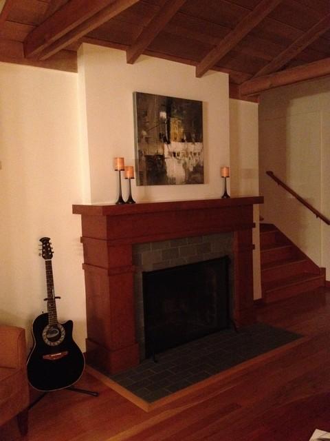 Custom Craftsman Style Mantel Traditional Family Room