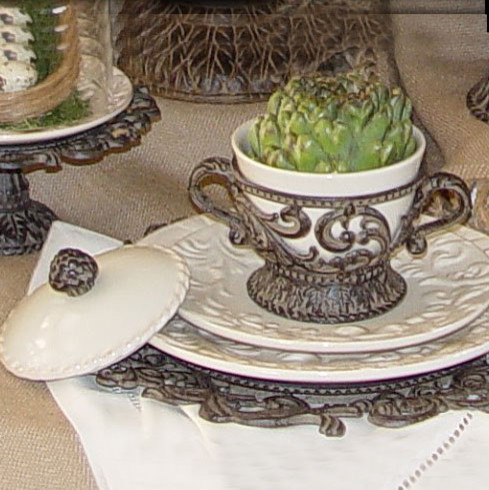 The GG Collection Covered Soup Bowl - Mediterranean - Dining Bowls - atlanta - by Iron Accents