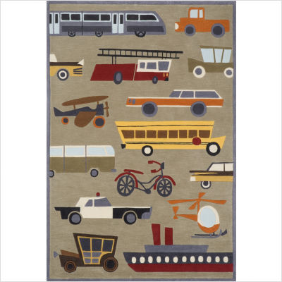 Lil Mo Whimsy Concrete Kids Rug modern-kids-rugs