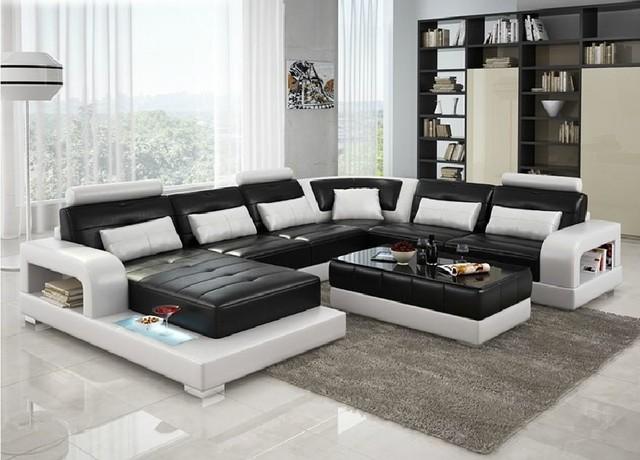 6145 Divani Casa Modern Leather Sectional Sofa Modern Sectional Sofas N