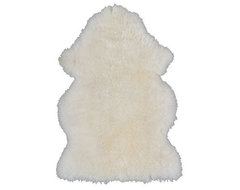Rens Sheepskin, White modern-rugs