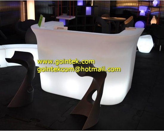 Led Furniture For Commercial Wine Bar Counters -