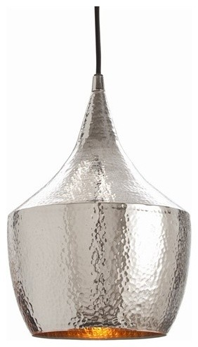 Hayden Hammered Silver Pendant by Arteriors Home contemporary pendant lighting