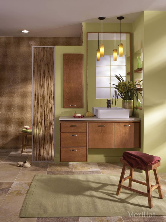 Natural Colors - Nature is a powerful force, especially in design. Greens, browns and a warm Cider finish all evoke the natural world, and living houseplants complete the feeling of a sanctuary.