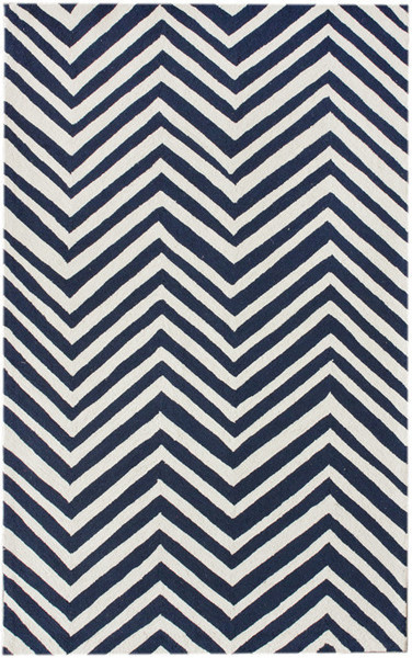 Chevron Area Rug Navy Blue Contemporary Rugs By