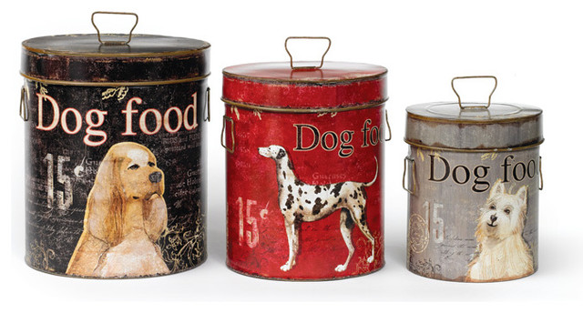 Decorative Dog Food Containers