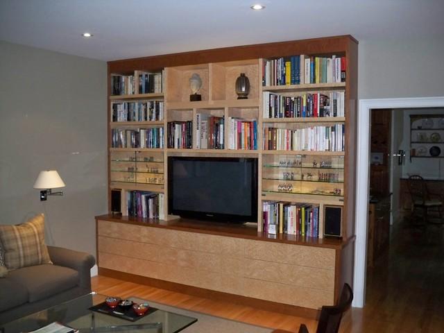 Custom Built In Media Center Modern Living Room Boston By The Orpin G
