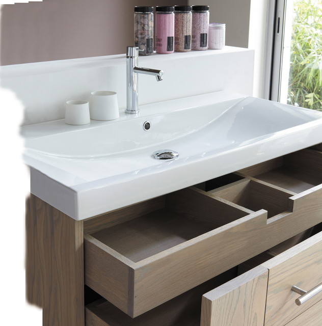 SOFT All In 1 Wall Mounted Vanity In Solid Wood Modern Bathroom Other M