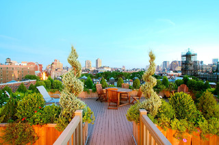 NYC Roof Garden Design traditional patio