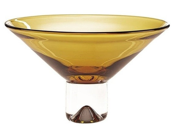 Imported - Monaco European Mouth Blown 12 Inch Bowl - This vase is a part of the Monaco Collection.