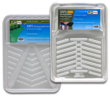 9-Inch Bio Plastic Trays and Liners contemporary