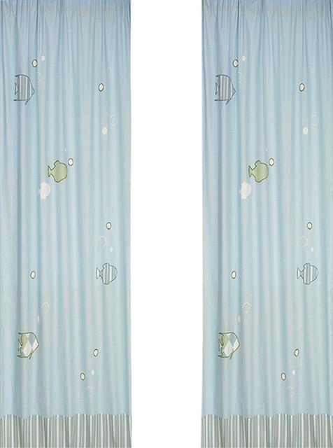 Go Fish Window Panels (Set of 2) contemporary-cellular-shades