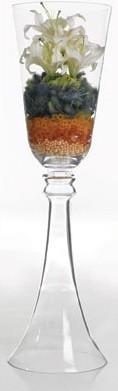 "Reversible Glass Vase 11""x40"" Clear vases"