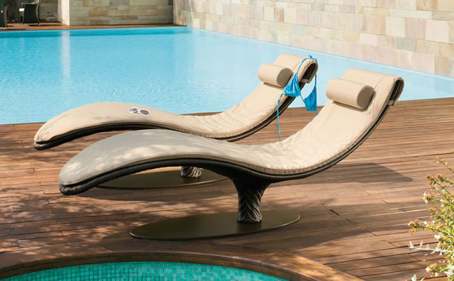 Caribe Chaise Lounge contemporary-outdoor-chaise-lounges