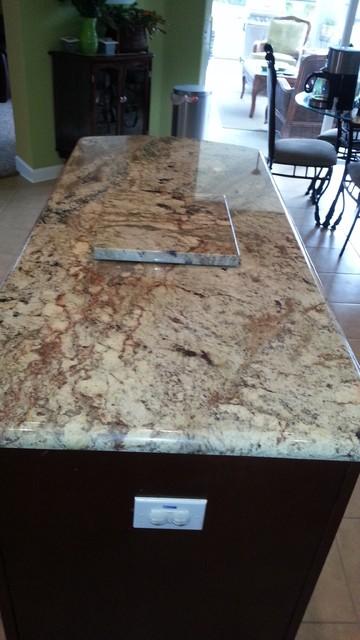Sienna Bordeaux Granite Countertops
