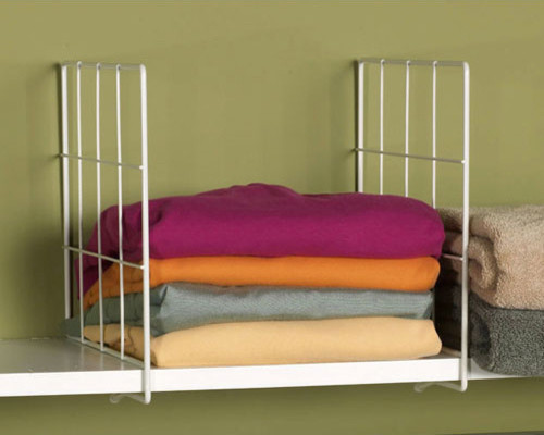 White Wire Shelf Dividers modern clothes and shoes organizers
