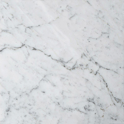 White Carrara Polished Marble Tiles 18 X 18 X 3 8 Contemp