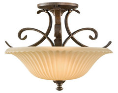"Country - Cottage Feiss Somerset 14"" Diameter Flushmount Ceiling Fixture traditional-ceiling-lighting"