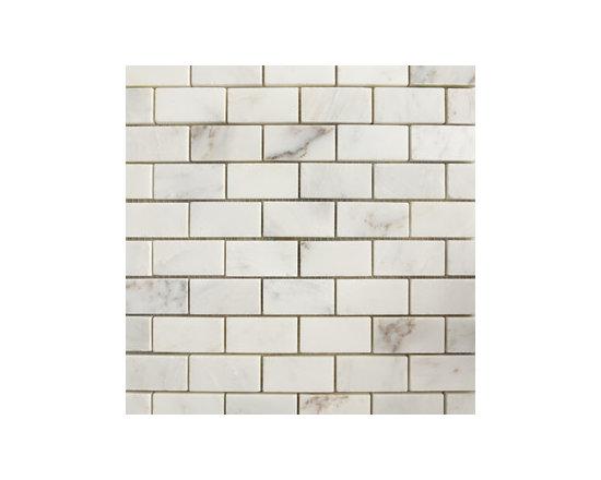 Versailles White Small Brick Pattern Honed Natural Stone Mosaic -