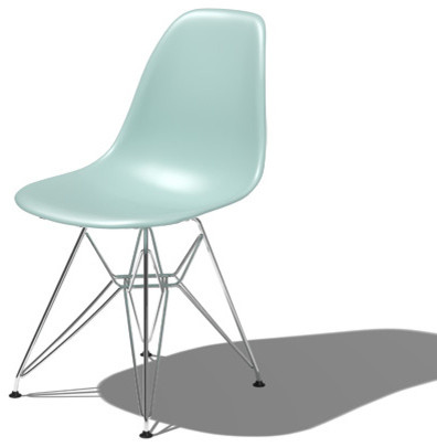 Herman Miller Eames Side Chair With Eiffel Tower Base Midcentury Dining C