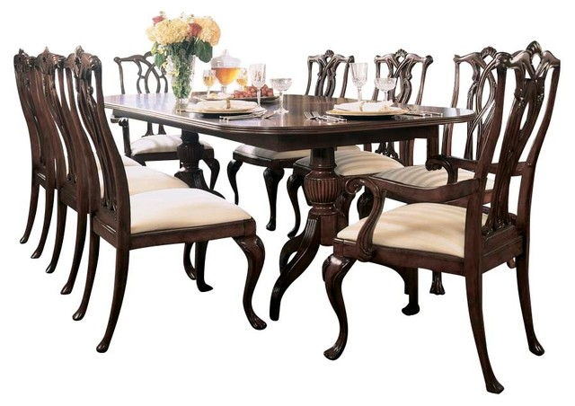 American Drew Cherry Grove 10 Piece Dining Room Set In Antique Cherry Tradi