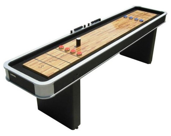 Rhino Platinum 9' Shuffleboard - -Poly-coated Top for Smooth, Quick Game Play
