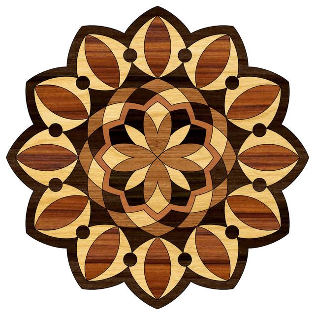 Laminate Floor Inlays : Laminate inlay medallion mmm mm