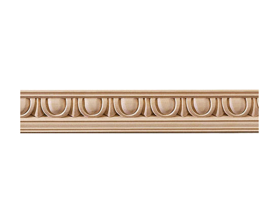 "Inviting Home - Egg-and-Dart Carved Crown Molding - red oak - red oak hardwood crown molding 1-3/4""H x 1-3/4""P x 2-1/2""F sold in 8 foot length (3 piece minimum required) Wood panel molding with corners specification: Outstanding quality panel molding profile carved from high grade kiln dried solid bass or red oak hardwood. Moldings are machine carved for accuracy of alignment of the panel molding with the corners. Panel molding and corners sold unfinished and can be easily stained painted or glazed. The installation of the wood molding should be treated the same manner as you would treat any wood molding: all molding should be kept in a clean and dry environment away from excessive moisture. acclimate wooden moldings for 5-7 days. when installing wood moldings it is recommended to nail molding securely to studs and glue all mitered corners for maximum support."