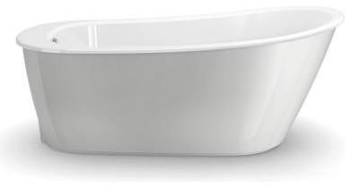 Maax Bathtub Sax 5 Ft Freestanding Bathtub In White With