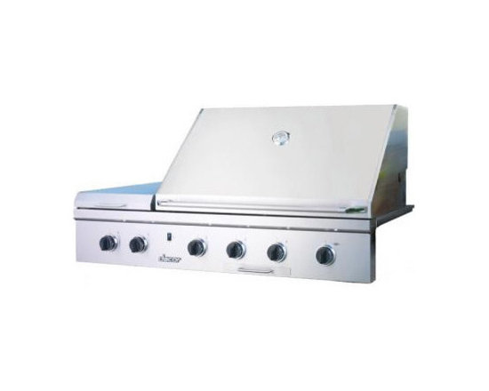 "Dacor 52"" Built-In Outdoor Grill, Stainless Steel With Chrome Trim 